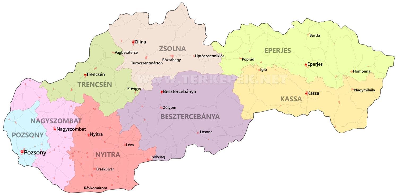 magyarország szlovákia térkép Szlovákia térképek magyarország szlovákia térkép